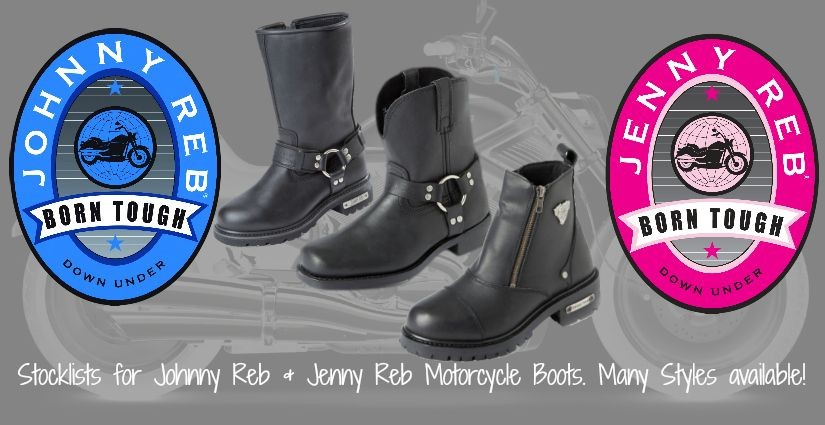Johnny Reb & Jenny Reb Motorcycle Boots